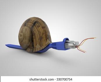 Slow internet concept