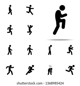 slowly, sneaking icon. Walking, Running People icons universal set for web and mobile