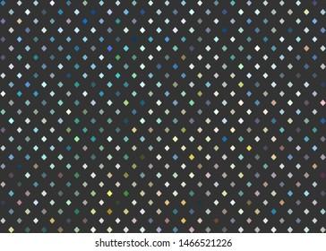 Slurry blue yellow white shapes mosaic on gray background.