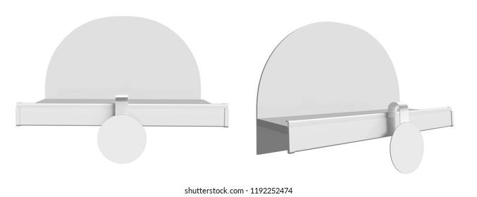 Small Blank Display Shelf. 3D rendering