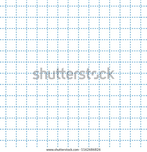 Small Blue Dotted Lined Squared Grid Stock Illustration