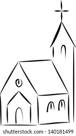 small church sketch