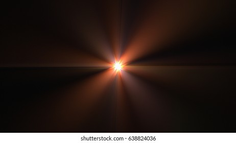 Small Colorful Fractal Light Flare