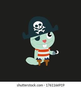 Small Dangerous Pirate Hook Cat