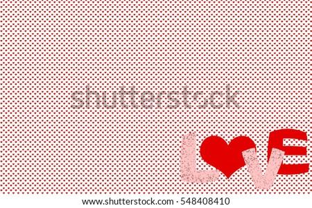 small heart pattern background wallpaper word stock illustration