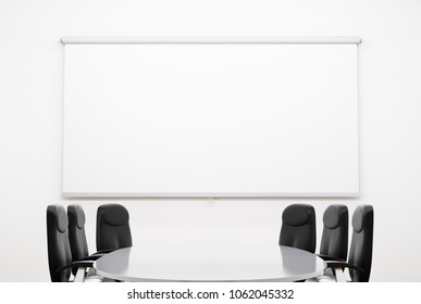Small Meeting Room. 3D illustration