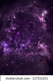 Small part of an infinite star field of space in the Universe