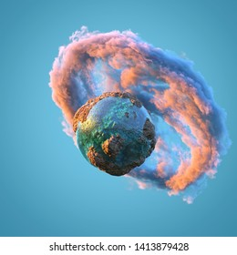 small planet in space, 3d illustration