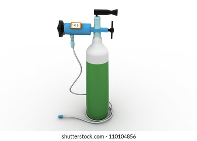 Small portable oxygen cylinder