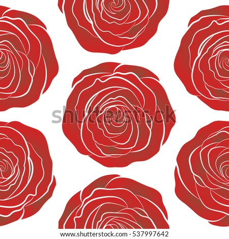 Small Red Brown Flowers On White Stock Illustration Royalty Free