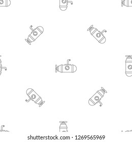 Small submarine icon. Outline illustration of small submarine icon for web design isolated on white background