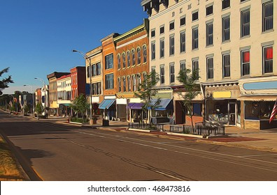 small town depiction