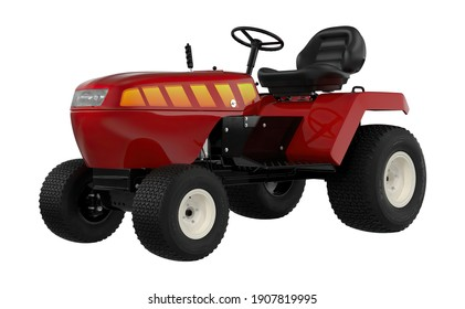 Small Tractor 3D illustration on white background