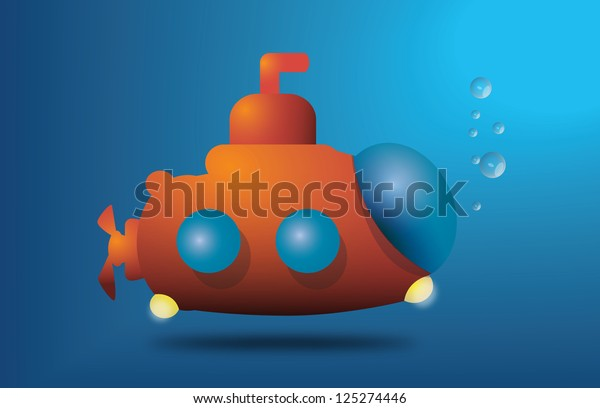 Small Underwater Submarine Stock Illustration 125274446