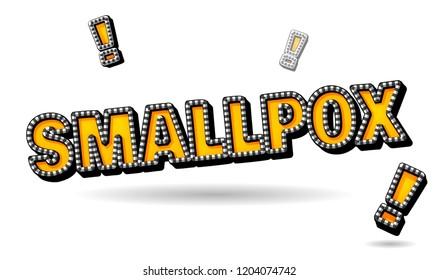 smallpox text. Popular disease and medical problem