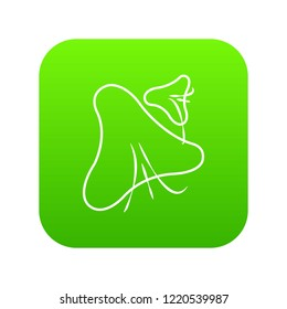 Smallpox virus icon green isolated on white background