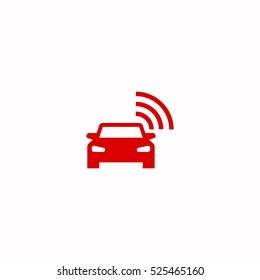 smart car icon, on white background