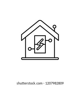 Smart energy consumption icon. Element of smart house icon for mobile concept and web apps. Thin line Smart energy consumption icon can be used for web and mobile