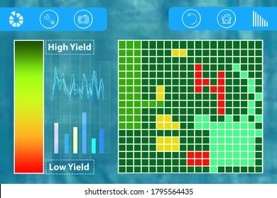 Smart farming. Drone control application, screen saver