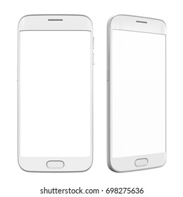 Smart Phone with Blank Screen Isolated. 3D rendering