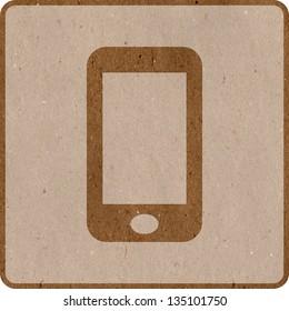 Smart phone icon / button