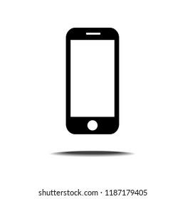 Smart phone icon isolated on white background.3D illustration.