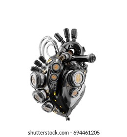 Smart robotic heart, 3d rendering