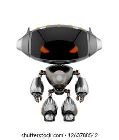Smart robotic toy with oval head, 3d rendering