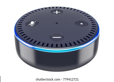 Smart speaker, 3D rendering