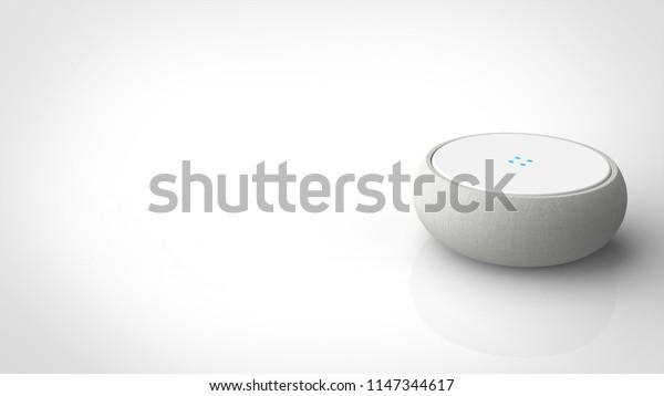 smart speaker 3d rendering