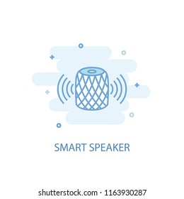 smart speaker line trendy icon. Simple line, colored illustration. smart speaker symbol flat design from Smart Home set. Can be used for UI/UX