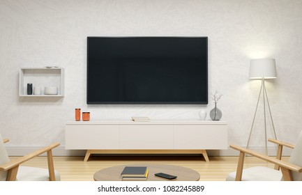 Drawing Room Design With Tv