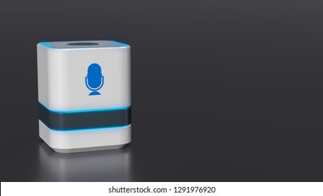 smart voice assistant,  concept of home automation and futuristic technology, copy space (3d render)