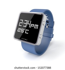 Smart watch on white background