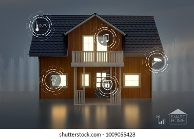 Smarthome Interface (3D Rendering)