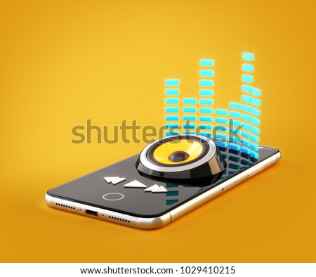 Smartphone application for online buying, downloading and.