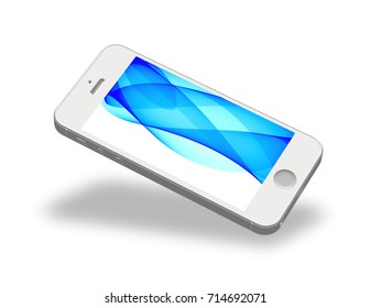 Smartphone Mockup with Amazing Screen for Design Project - Mock Up 3D illustration Isolate on White Background