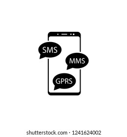 smartphone, sms, mms, gprs  icon for websites and mobile minimalistic flat design