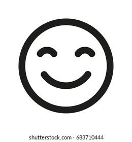 Smile face icon. Emoji smile.