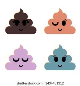 Smiled feces illustration raster copy