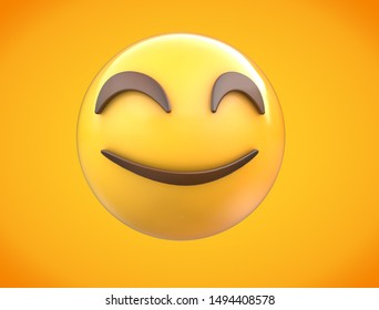 Smiley Emoji with gradient background