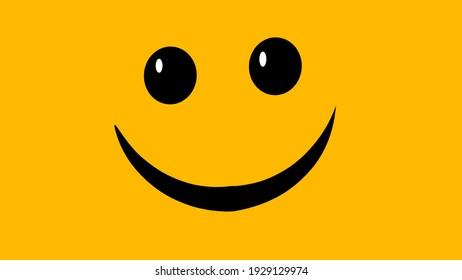 smiley emoticon image illustration on orange background