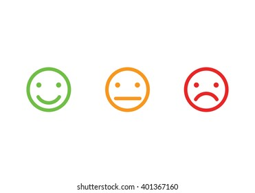 Smiley faces icons illustration