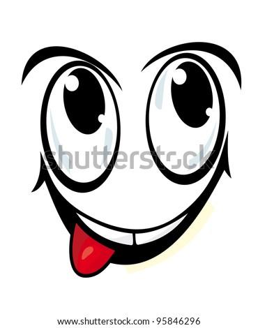 Smiling Face Cartoon Style Comics Design Stock Illustration 95846296