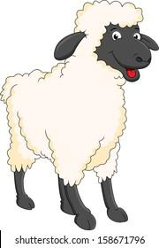 smiling sheep cartoon