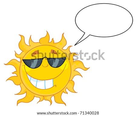 c4985fae24 Smiling Sun Mascot Cartoon Character Sunglasses Stock Illustration ...