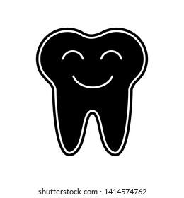 Smiling tooth icon. Element of Dantist for mobile concept and web apps icon. Glyph, flat icon for website design and development, app development