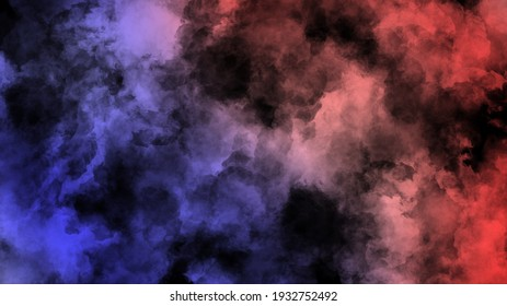 Smoke Backgrounds with blue and red color in the side. background HD. abstract background.