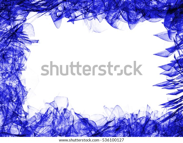 Smoke Blue Line Ornament Background Abstract Stock