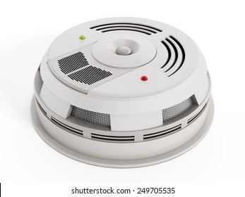 Smoke Detector isolated on white background. Generic design.
